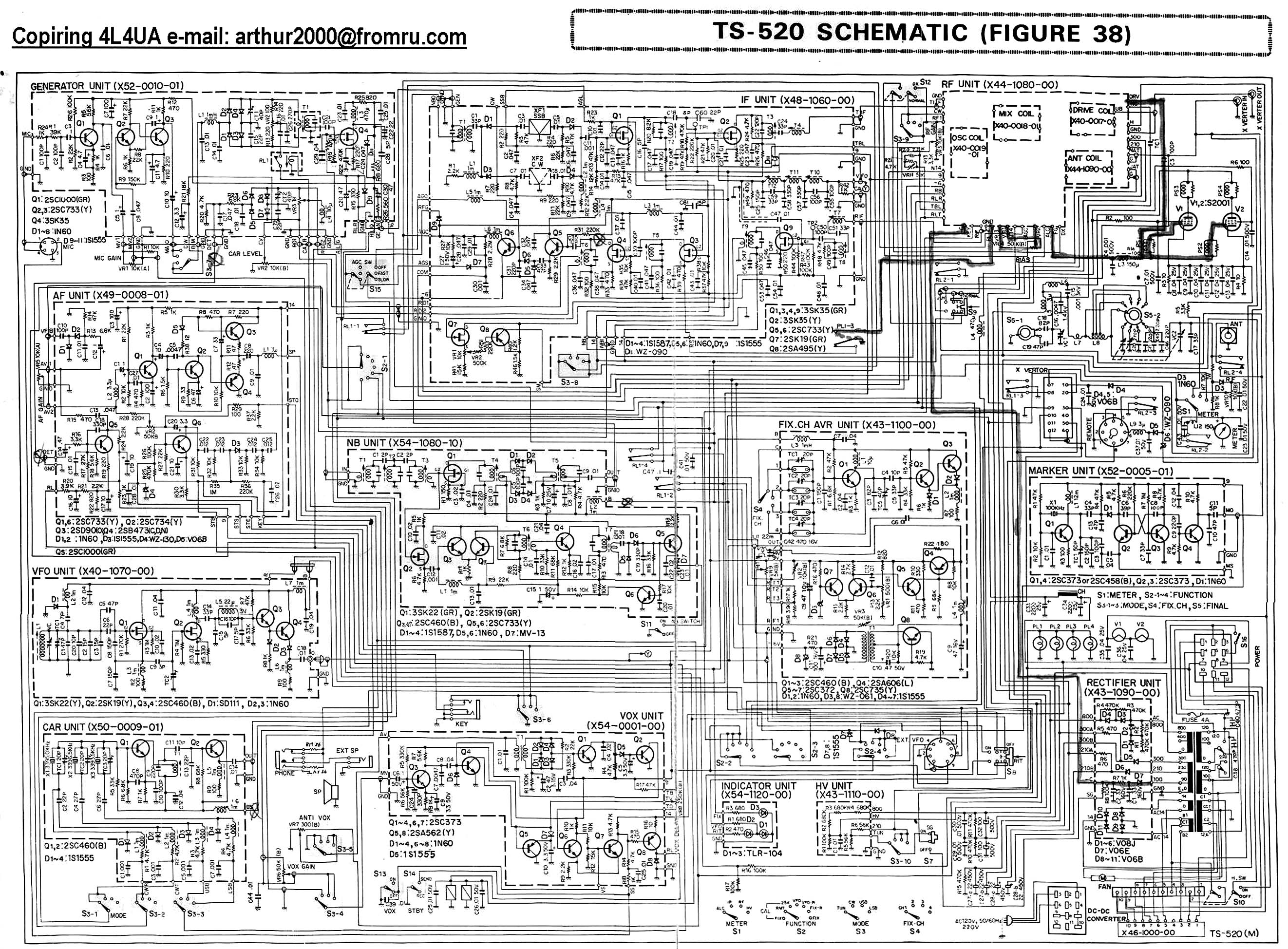 Kenwood Ts 520 Schematic Diagram - Circuit Connection Diagram •